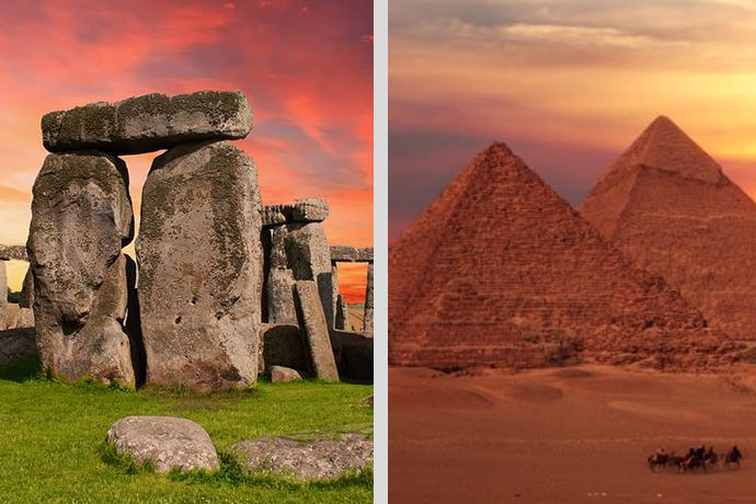 Las piramides y stonehenge