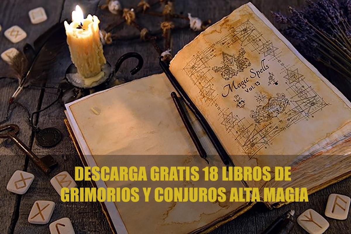 18 libros de Grimorios y Conjuros de Alta Magia